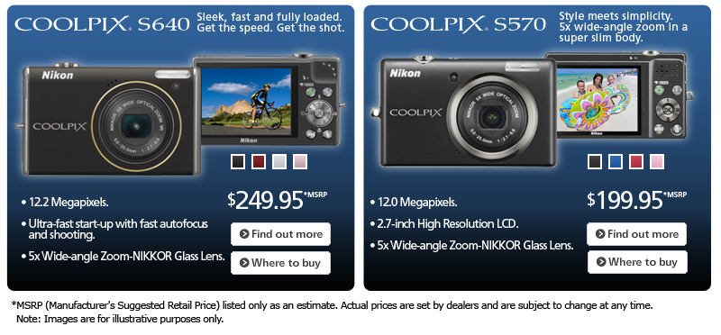 COOLPIX S640 and COOLPIX S570