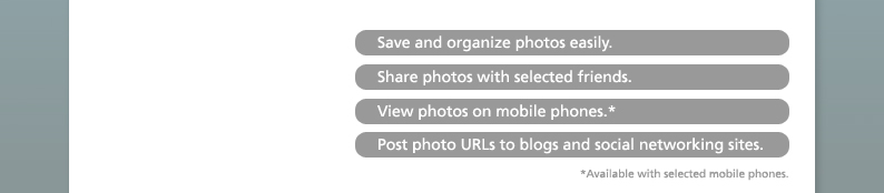 Save and organize photos easily.